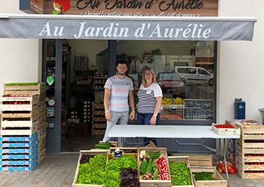 Boutique fruits et légumes au jardin daurelie